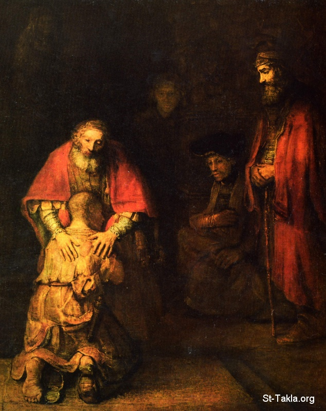 St-Takla.org Image: The Return of the Prodigal Son, painting by Rembrandt Harmenszoon van Rijn, 1663 until 1665, oil on canvas, 205 cm (80.7 in). Height: 262 cm (103.1 in), Hermitage Museum at Saint Petersburg, Russia ���� �� ���� ������ ����: ���� ���� ����� ����� ������ ��������� ���������� ��� ��� �� 1663 ��� 1665� ��� ��� ���� ����� 205�� � 262�� ������ �� ���� �������� ����� ��������̡ �����