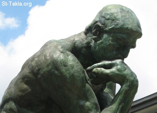 St-Takla.org Image: The Thinker (Le Penseur) - a bronze and marble sculpture by Auguste Rodin ���� �� ���� ������ ����: ������ �� ����� ����� ���� ���ѡ �� �� ������� ������ ����� �����