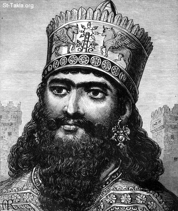 St-Takla.org           Image: Nebuchadnezzar king of Babylon صورة: نبوخذنصر ملك بابل