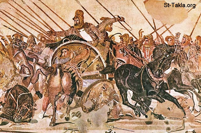 St-Takla.org Image: King Darius in one of the battles ���� �� ���� ������ ����: ������ ����� �� ��� �������