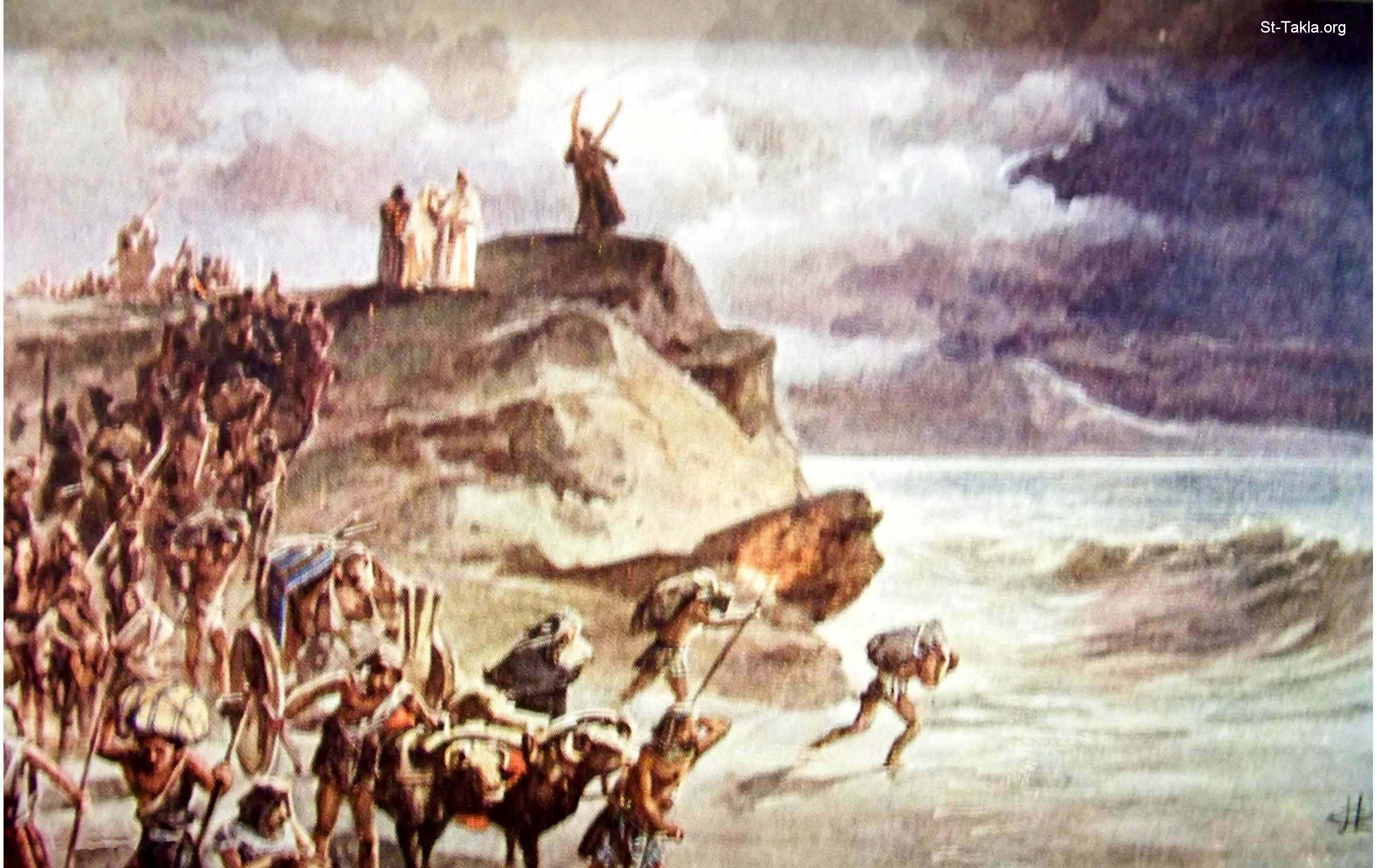 crossing the red sea Watch video  the supposed red sea crossing, then, would have been from the point labeled b to kedua, once waters piled up in the lake of tanis and a three or four kilometer long land-bridge opened between these two points.