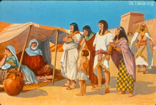 St-Takla.org Image: Egyptians saw the woman Sarai, that she was very beautiful (Genesis 12:14-15) ���� �� ���� ������ ����: �������� ������� ���� ���� (����� 12: 14- 15)