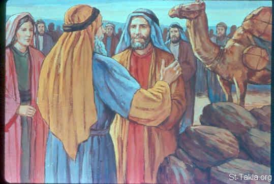 Image: The pact between Laban and Jacob صورة عهد بين لابان ...