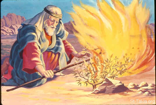 "St-Takla.org Image: Moses telling God: But suppose they will not believe me or listen to my voice; suppose they say, 'The LORD has not appeared to you' (Exodus 4:1, 2) صورة في موقع الأنبا تكلا: موسى يقول لله: ""إنهم لا يصدقونني ولا يسمعون لقولي"" (خروج 4: 1، 2)"
