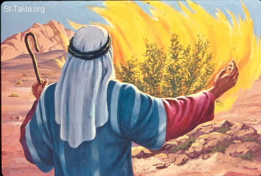 "St-Takla.org Image: Moses telling God: O my Lord, I am not eloquent, neither before nor since You have spoken to Your servant; but I am slow of speech and slow of tongue (Exodus 4:10) صورة في موقع الأنبا تكلا: موسى يقول لله: ""لست أنا صاحب كلام"" (خروج 4: 10)"