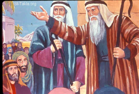 St-Takla.org Image: Divine commands to the elders of Israel (Exodus 12:21) ���� �� ���� ������ ����: ������� ����� ��� ���� ��� ������� (���� 12: 21)