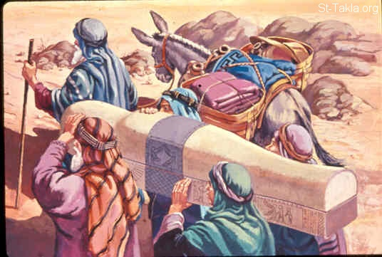 St-Takla.org Image: Moses took the bones of Joseph with him (Exodus 13:17-19) ���� �� ���� ������ ����: ���� ���� ���� ���� ��� (���� 13: 17-19)