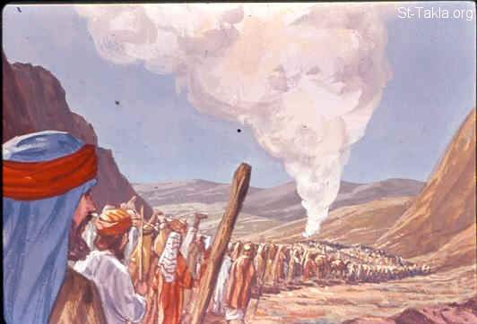 St-Takla.org Image: Now it came to pass, as Aaron spoke to the whole congregation of the children of Israel, that they looked toward the wilderness, and behold, the glory of the LORD appeared in the cloud (Exodus 16:9-10) صورة في موقع الأنبا تكلا: عظمة الله تتمجد في السحاب (خروج 16: 9-10)