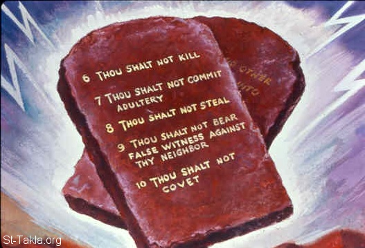 St-Takla.org Image: The last five commandments (Exodus 20:13-17) ���� �� ���� ������ ����: ��� ��� ����� (���� 20: 13-17)