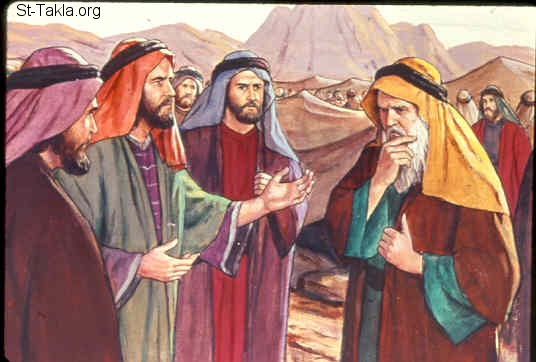 St-Takla.org Image: Moses talks to the people (Exodus 24:1-12) ���� �� ���� ������ ����: ���� ���� ����� (���� 24: 1-12)