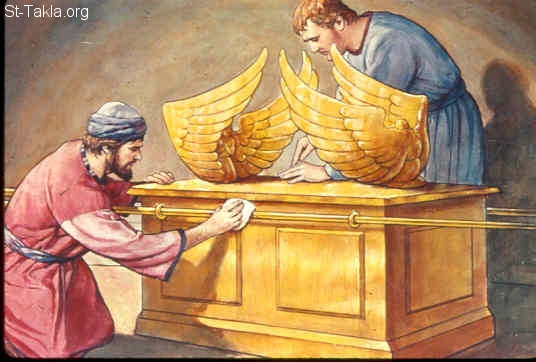 St-Takla.org Image: Making the ark of the covenant and table for it (Exodus 37:1-9) صورة في موقع الأنبا تكلا: صنع تابوت العهد ومائدة له (خروج 37: 1-9)