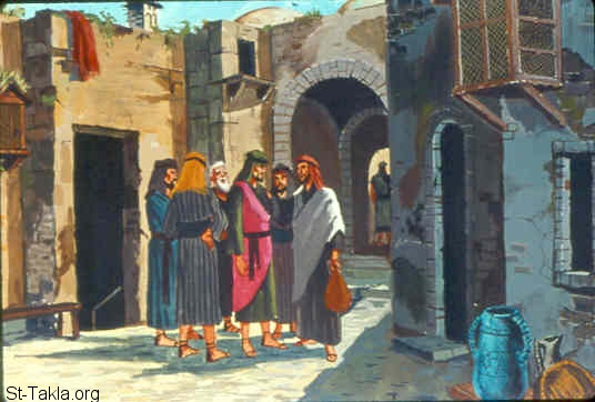 St-Takla.org Image: Gideon sent messengers throughout all Manasseh, who also gathered behind him. He also sent messengers to Asher, Zebulun, and Naphtali; and they came up to meet them (Judges 6:33-35) صورة في موقع الأنبا تكلا: جدعون يجتمع مع رسله (القضاة 6: 33-35)