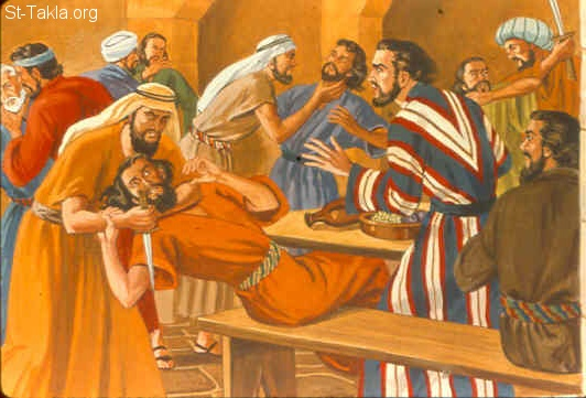 St-Takla.org Image: Abimelech kills his people (Judges 9:5) ���� �� ���� ������ ����: ������� ���� ������ (������ 9: 5)
