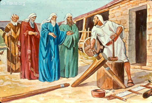 St-Takla.org Image: Jephthah the Gileadite leads the people of Ammon (Judges 11:1-11) ���� �� ���� ������ ����: ����� ���� ��� ���� (������ 11: 1-11)