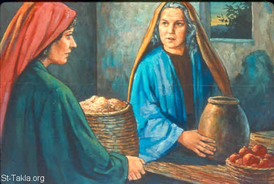 St-Takla.org Image: Ruth tells Naomi what happened (Ruth 3:16-18) ���� �� ���� ������ ����: ����� ���� ����� (����� 3: 16-18)