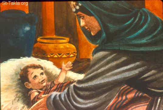 "St-Takla.org Image: So it came to pass in the process of time that Hannah conceived and bore a son, and called his name Samuel, saying, ""Because I have asked for him from the LORD."" (1 Samuel 1:20) صورة في موقع الأنبا تكلا: مولد صموئيل (صموئيل الأول 1: 20)"