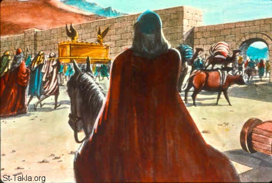 St-Takla.org Image: The Philistines decide to return the ark of the Lord (1 Samuel 6:1-9) ���� �� ���� ������ ����: ����������� ������ ����� ������� (������ ����� 6: 1-9)