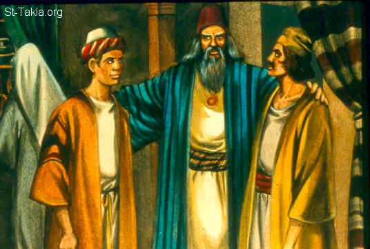 St-Takla.org Image: Now it came to pass when Samuel was old that he made his sons judges over Israel. The name of his firstborn was Joel, and the name of his second, Abijah; they were judges in Beersheba. (1 Samuel 8:1-2) صورة في موقع الأنبا تكلا: صموئيل يجعل أبنائه قضاة لإسرائيل (صموئيل الأول 8: 1-2)