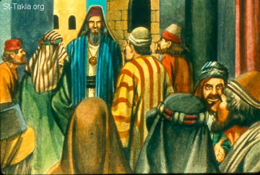 "St-Takla.org Image: Then all the elders of Israel gathered together and came to Samuel at Ramah, and said to him, ""Look, you are old, and your sons do not walk in your ways. Now make us a king to judge us like all the nations."" (1 Samuel 8:4-5)  صورة في موقع الأنبا تكلا: فاجتمع شيوخ إسرائيل مطالبين بملك (صموئيل الأول 8: 4-5)"
