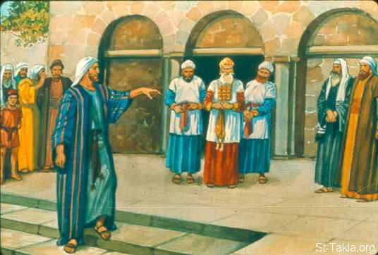 St-Takla.org Image: Micah scolds the priests (Micah 3:9-11) ���� �� ���� ������ ����: ���� ���� ������ (���� 3: 9-11)