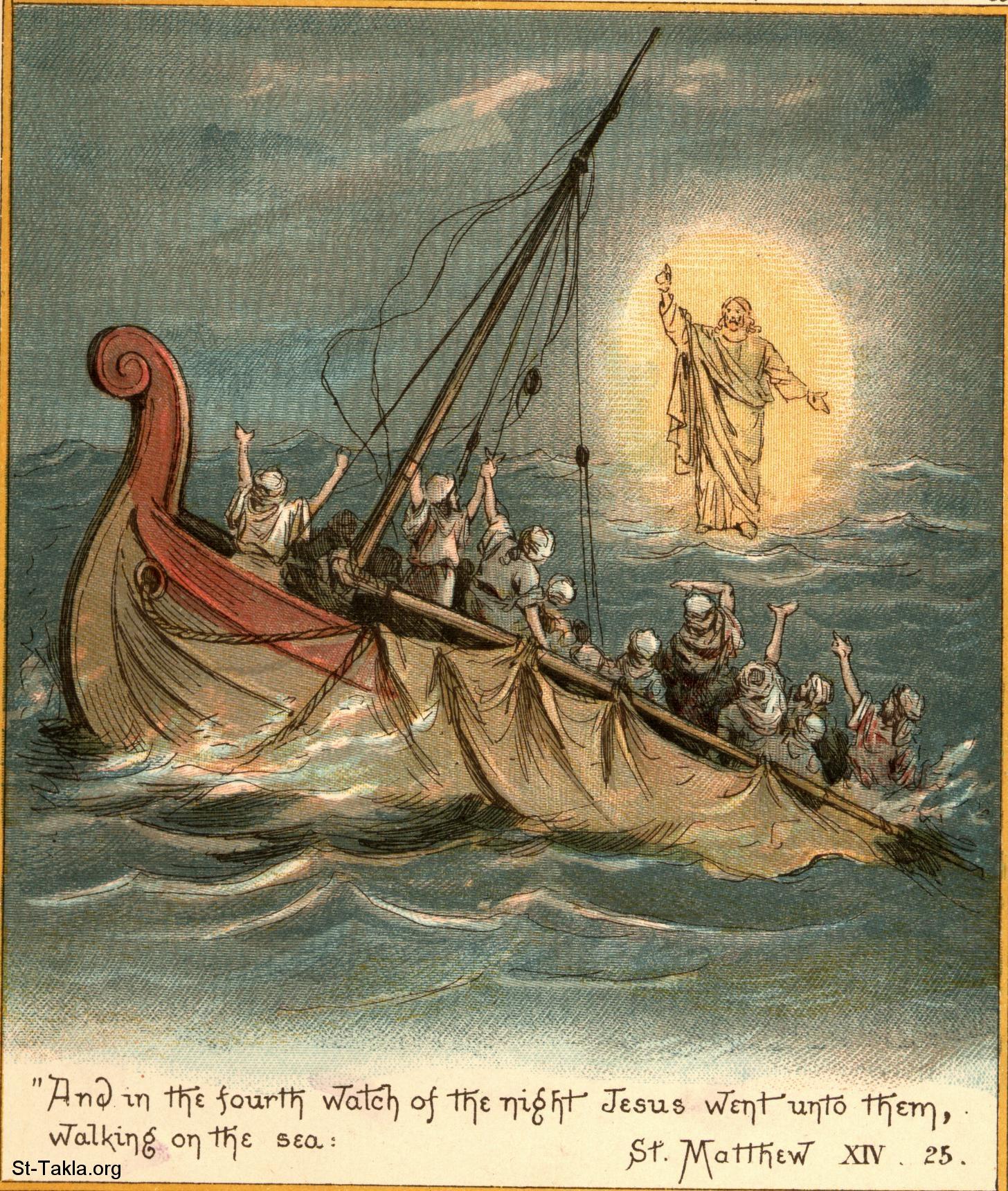 image jesus walks on water