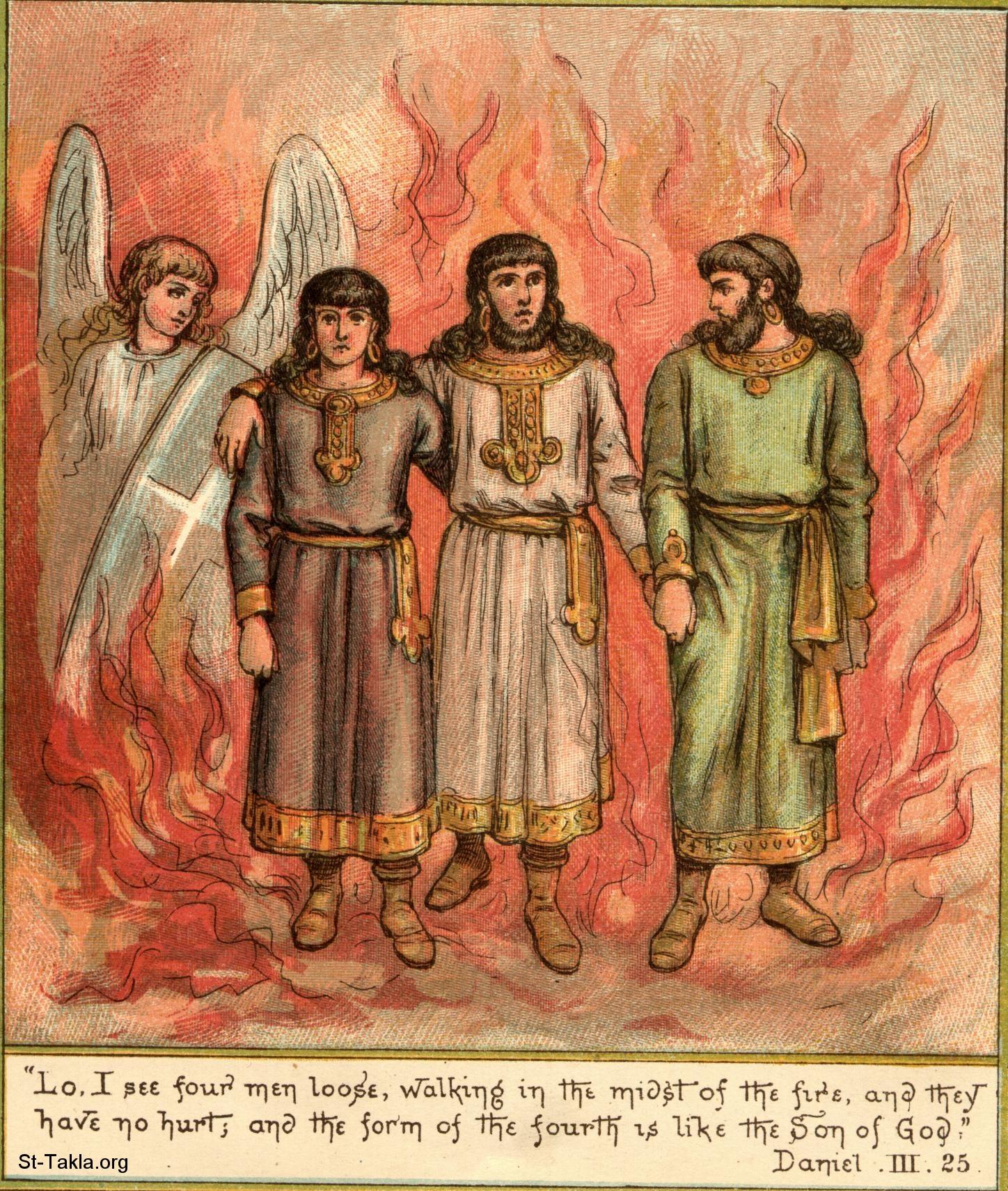 COV ZAJ NYEEM NRUAB LIS PIAM 2012 Www-St-Takla-org--angel-appears-in-furnace