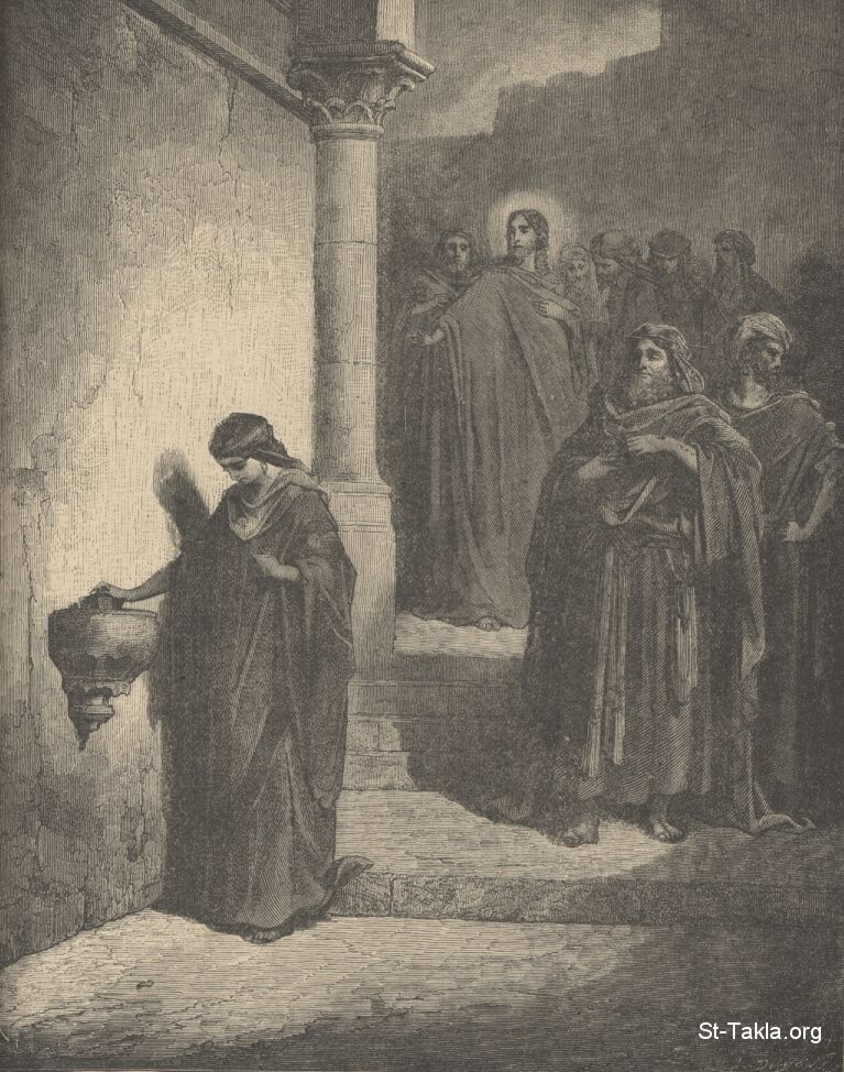 St-Takla.org Image: The widow's mite, engraving by Gustave Dore, Bible Iiilustrations ���� �� ���� ������ ����: ����� ������ɡ (������� ��� �������) ��� ������ ������ ����� �� ��� ����� �������