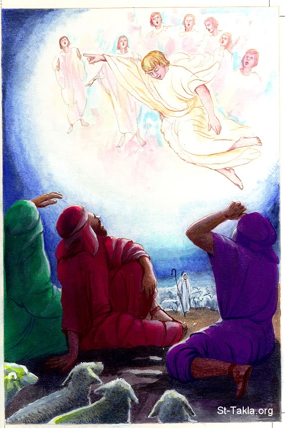 Image The Angel announcing the Birth of Christ to the Shepherds – Angels Announce the Birth of Jesus