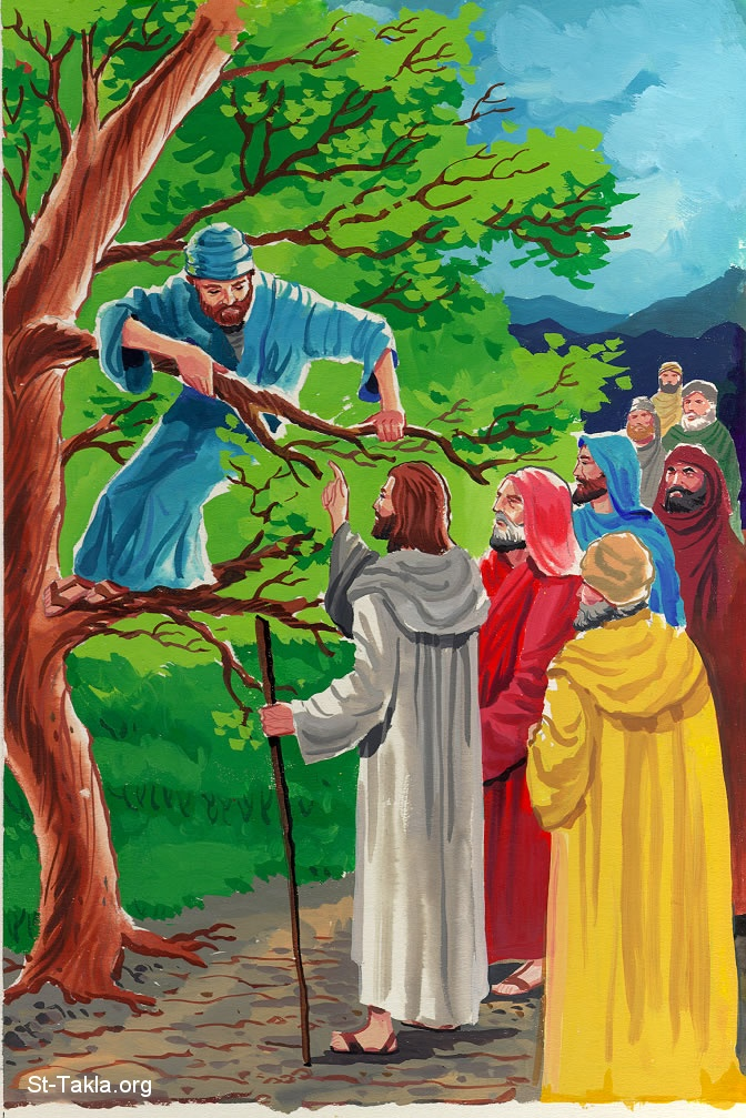 clipart jesus and zacchaeus - photo #33