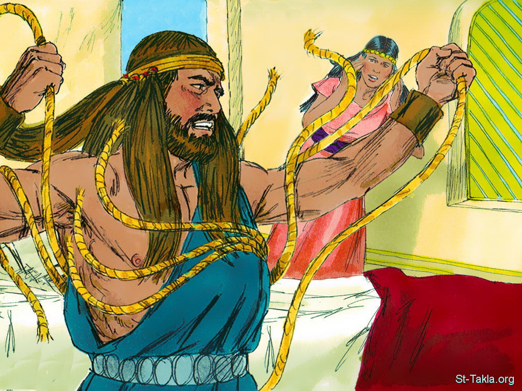 Библия в картинках самсон