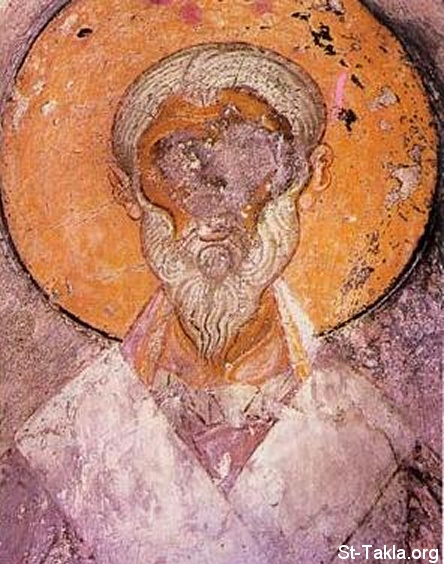 St-Takla.org Image: Icon of the Saint Pope Alexander of Alexandria in Veljusa Monastery, Macedonia - XI - XIV c. ���� �� ���� ������ ����: ������ ����� ������ ������ ������ ���������� ���� ���������� ������ ��� - �������� ���� ��� �� ��� ������� 11-14� ������� �� ��� ������ǡ �������