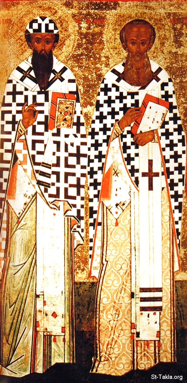 St-Takla.org         Image: Saints of Alexandria, Pope Athanasius and Pope Cyril the Egyptian Popes ����: ������� ���������ɡ ������ �������� ������� ����� �����ѡ ��������� ��������