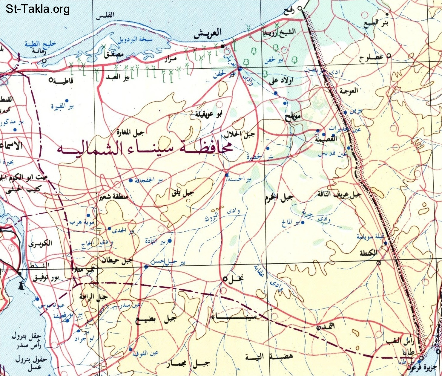 Image: egypt map c governorates north sinai
