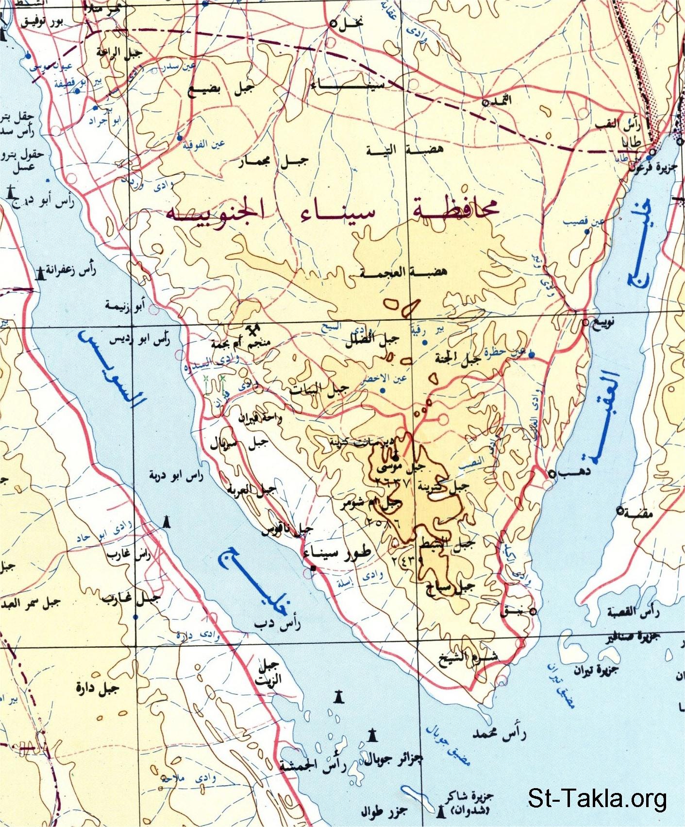 Image Egypt Map C Governorates South Sinai