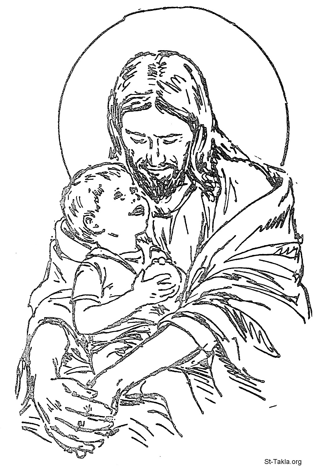 Boy jesus colouring pages
