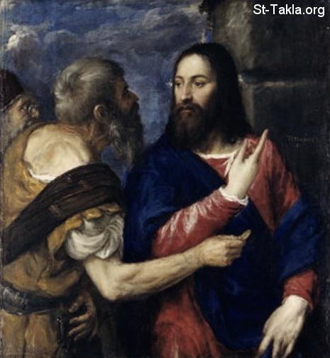 Pab xav txog lub ntsiab hauv tej zaj nyeem Www-St-Takla-org--Life-of-Jesus-52-Render-to-Caesar-04
