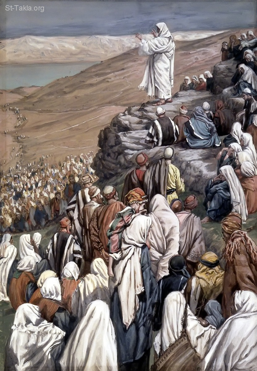 St-Takla.org Image: Jesus in the Sermon on the Mount painting, by James J. J. Tissot ���� �� ���� ������ ����: ����� ������ �� ������� ��� ����� ��� ������ ���� ��. �. �����