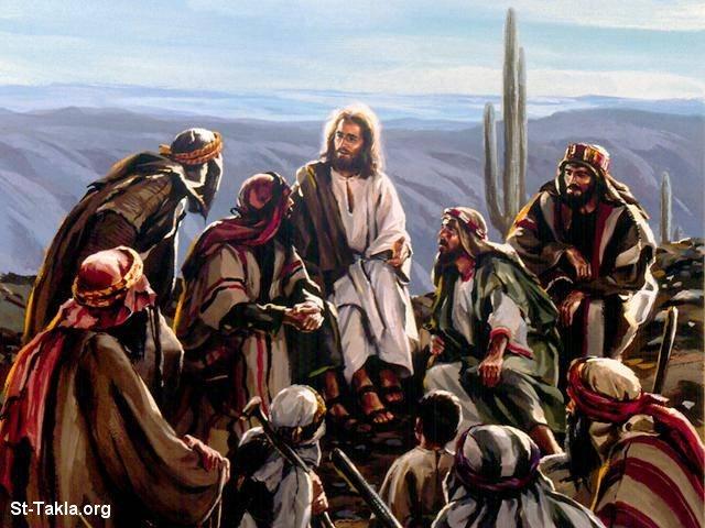 Image Jesus Talking To His Disciples صورة يسوع يتحدث مع