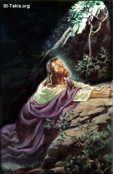 Image Jesus Praying In Gethsemane Garden