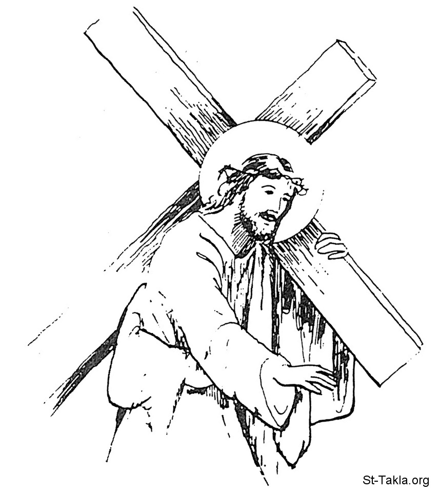 free clip art jesus carrying cross - photo #42