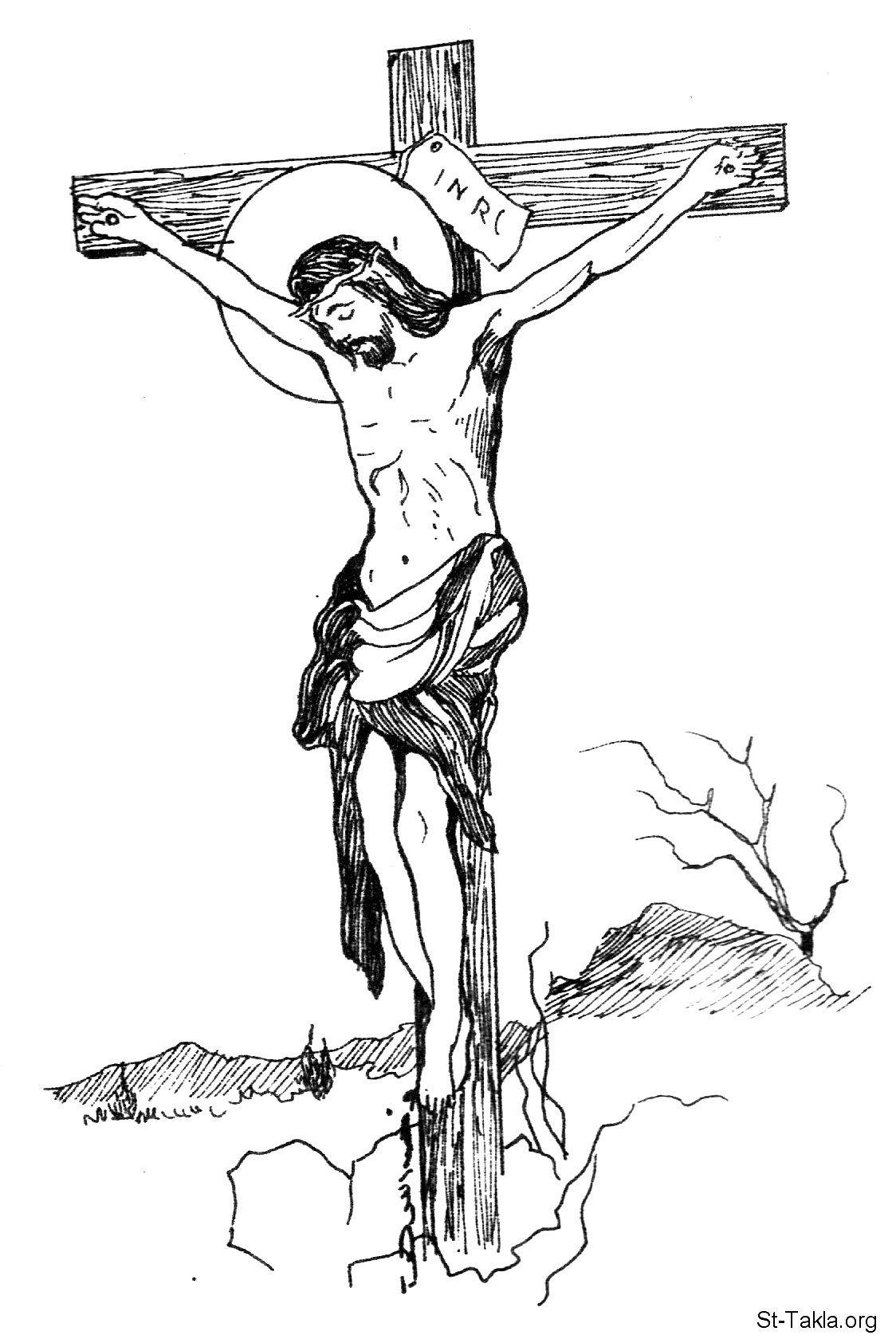Jesus died on the cross coloring page coloring pages for Coloring pages of jesus on the cross