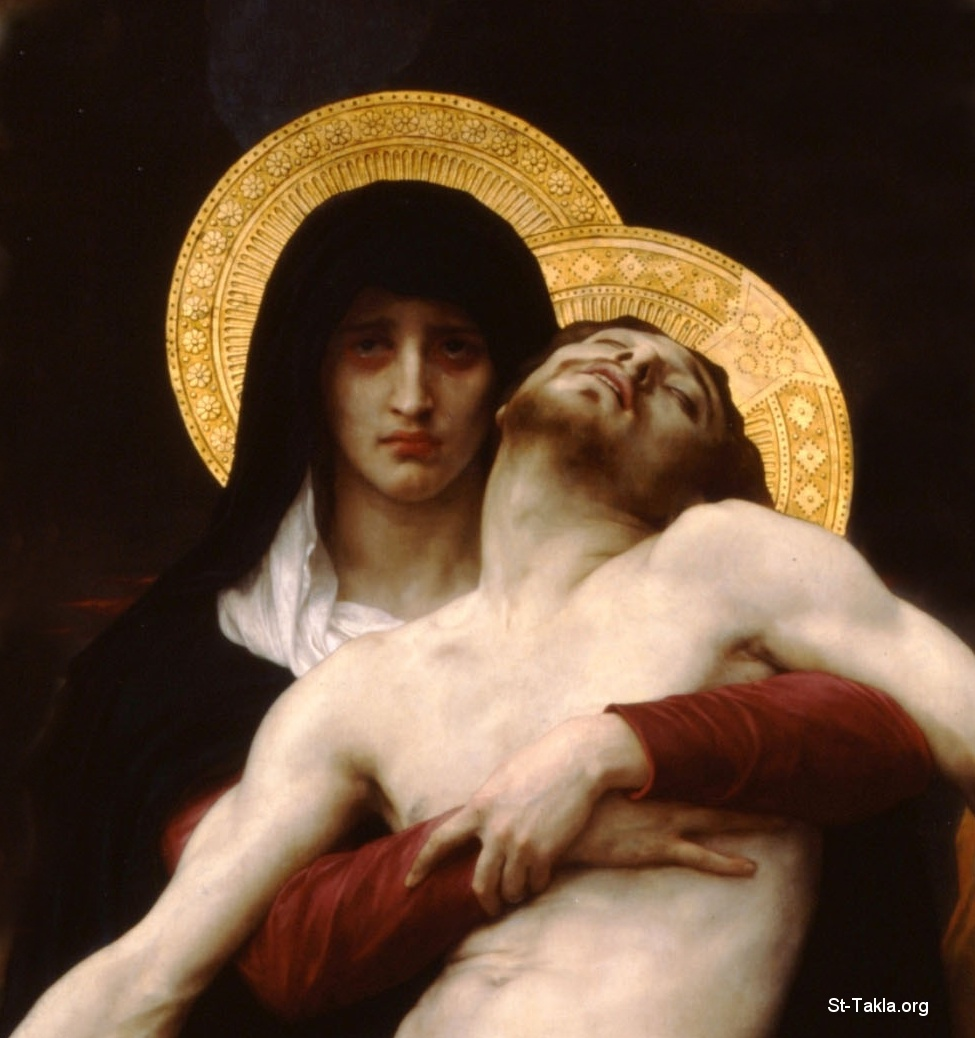 St-Takla.org Image: Details, Pieta, by William Bouguereau ���� �� ���� ������ ����: ��� ������� ��� ������ ��� ���� ������ ������ ������ - ������ �� ������