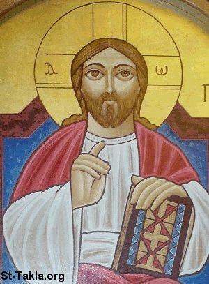 St-Takla.org Image: Coptic icon of Jesus Christ Pantokrator صورة <br />في موقع الأنبا تكلا: أيقونة قبطية تصور السيد المسيح ضابط الكل