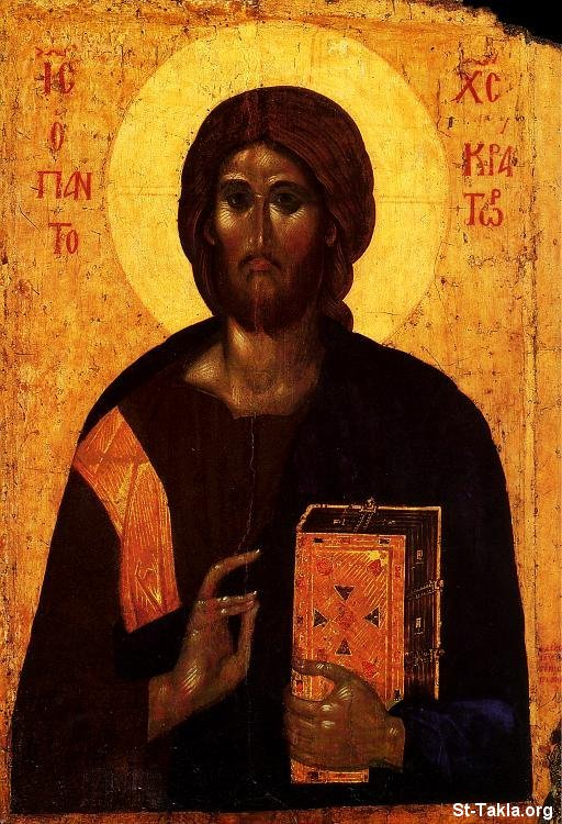St-Takla.org Image: Christ Pantokrator, ancient Greek icon ���� �� ���� ������ ����: ������ ������ ���� ������ ������� �����