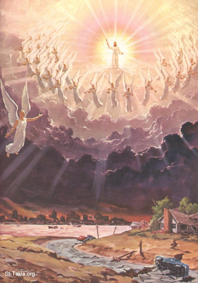 St-Takla.org         Image: The Second Coming of Jesus Christ ����: ������ ������ ����� ������ ����