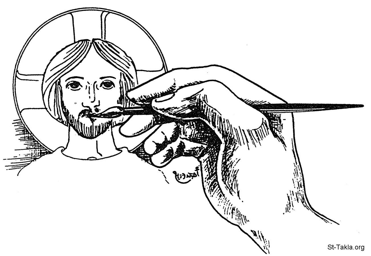 Image Jesus Coptic Draw 01