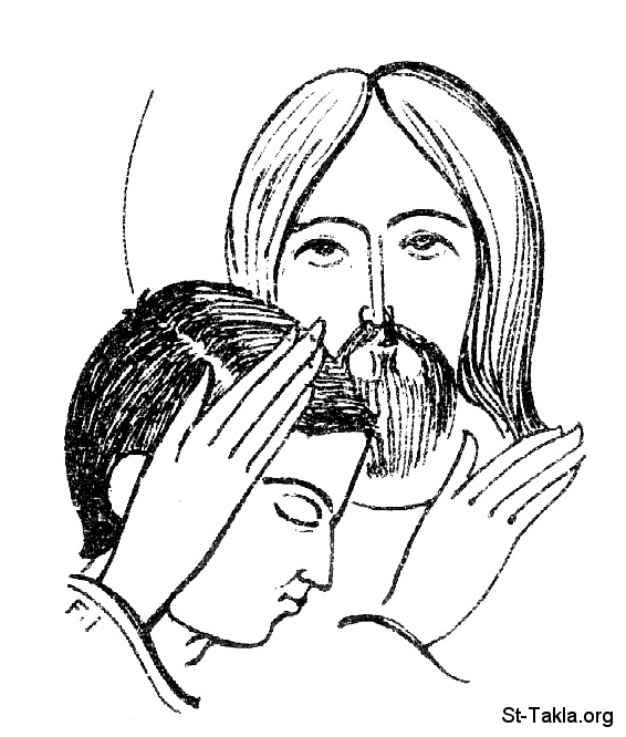 St-Takla.org Image: Christ hugging a young man, we are part of Jesus, by Fahmy Eshak ���� �� ���� ������ ����: ����� ������ ���� ����� ����ǡ ��� ��� �� �����͡ ��� ������ ���� ����
