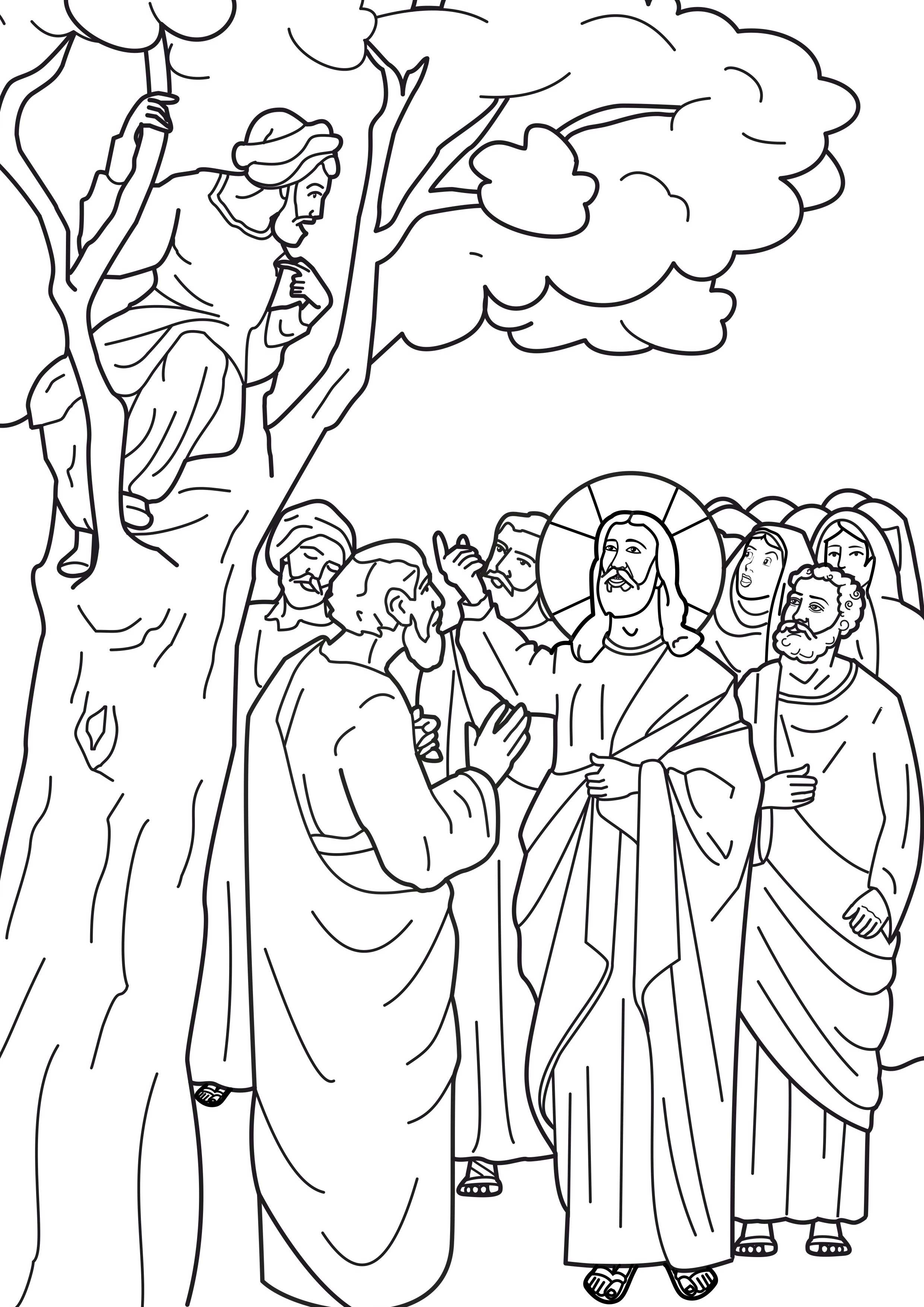 luke 19 10 coloring pages - photo#7