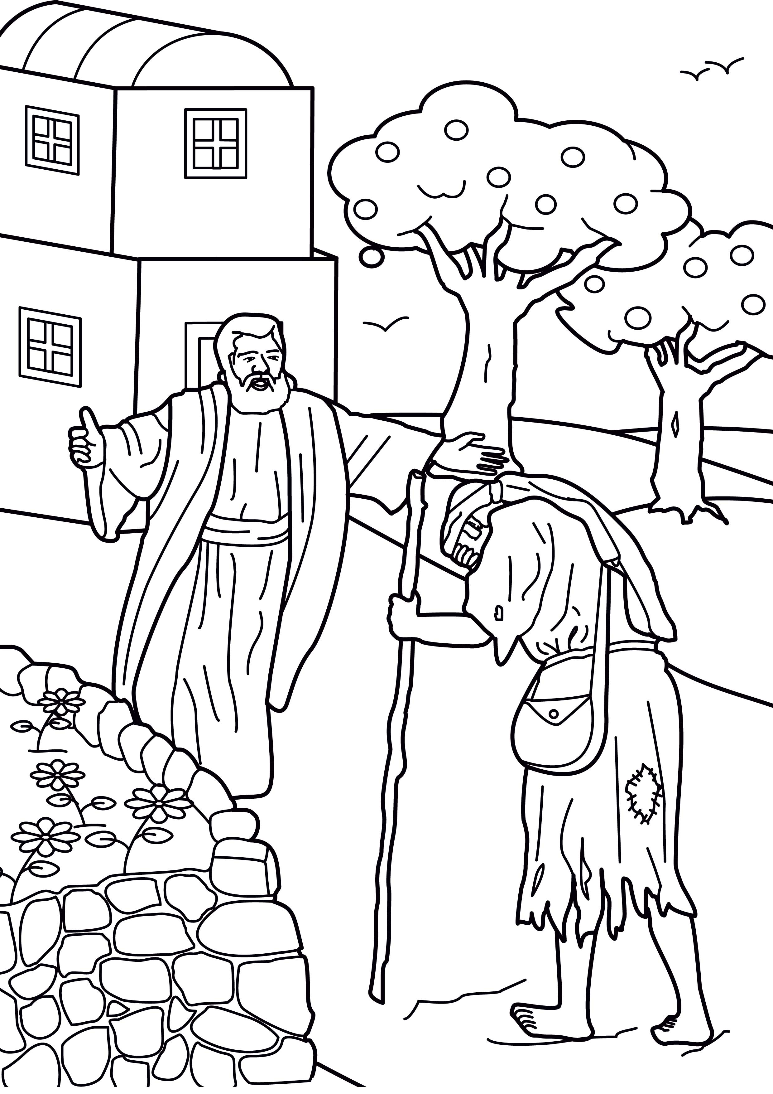 Prodigal son coloring pages for kids - Prodigal Son Coloring Pages View Full Size