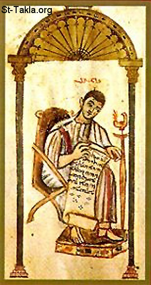 St-Takla.org         Image: Ancient Icon of Tatian the Asssyrian ����: ������ ����� ���� ������� ������ �������